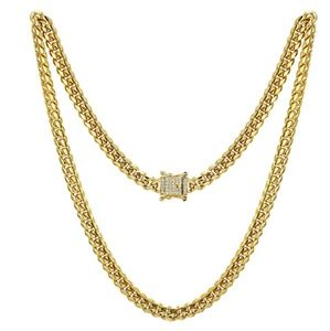 Other - 14K GOLD STAINLESS STEEL MIAMI CUBAN CHAIN