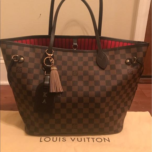 e1b3942a9850 Louis Vuitton Handbags - Authentic Louis Vuitton Neverfull mm Damier Ebene