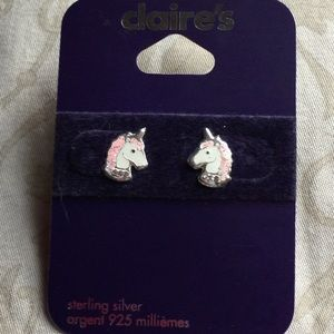 3f52af3e3 Claires Jewelry - 💜BOGO!💜NWT Sterling Silver Unicorn stud earrings