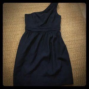 shoshanna dress black 4 one shoulder