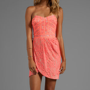 Finders Keepers Corel Lace Dress NWT