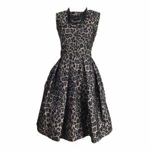 Taylor Dresses - Taylor Leopard Pouf Party Dress