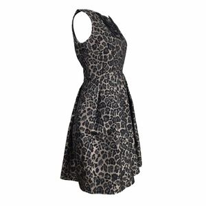 Taylor Dresses - Taylor Leopard Pouf Party Dress