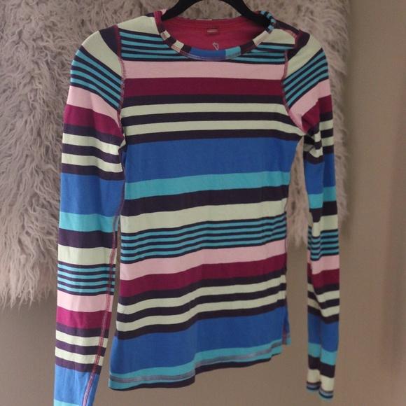 911166207 Ivivva Shirts & Tops | Long Sleeve Reversible Shirt Active Stripes ...
