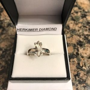 Jewelry - STERLING SILVER HERKIMER DIAMOND RING SIZE 9 NIB