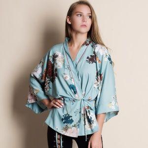 Printed Kimono Top