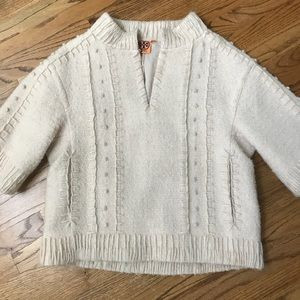 Tory Burch cream lined pullover jacket