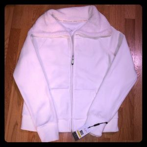 Calvin Klein white performance fleece zip up!NWT