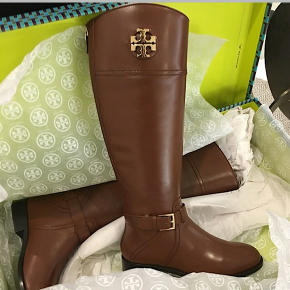 501bfa8c71b8 Tory Burch Adeline Riding Boots Almond Brown. M 59d254578f0fc40b26009545