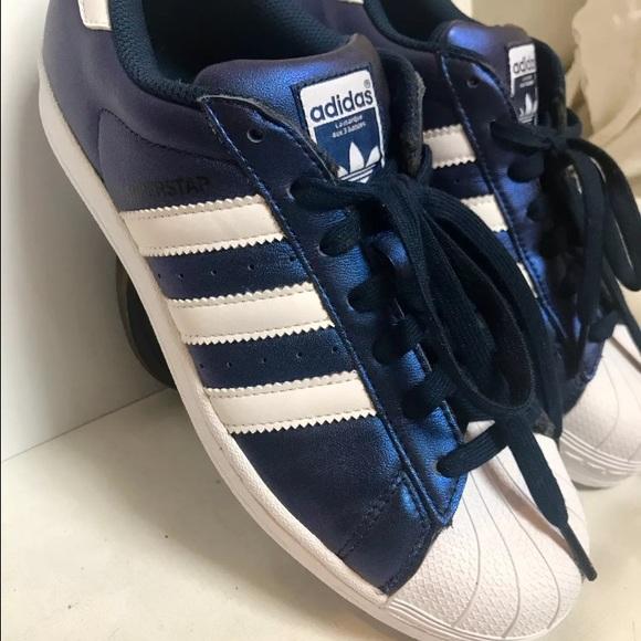 7f2316397ce2cc NWOB Adidas Originals Superstar Metallic Blue