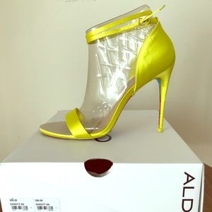 c153c3352fe Aldo Shoes - Brand New Yellow Aldo Sandyy Open Toe Heel
