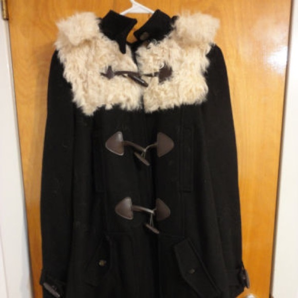 a35b74834c7a5 Topshop Curly Shearling Wool Toggle Swing Coat. M_59d25a476d64bcbab300a951