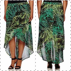 a.n.a Cross-Front Maxi Skirt Size 2X Amazon Jungle