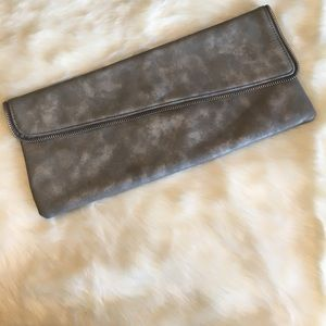Style & Co. grey clutch