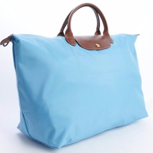 Longchamp Handbags - Longchamp Le Pliage Travel bag XL in light blue 456c9924c8