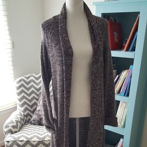 Slouchy, oversized, cable knit, long, cardigan