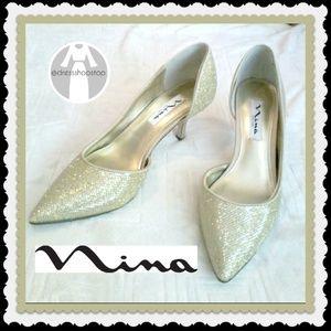 Nina Gold Platino Brydie  Heel