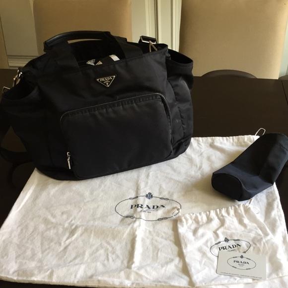 e65a6a001147 Prada Vela Nylon Baby Bag - Black