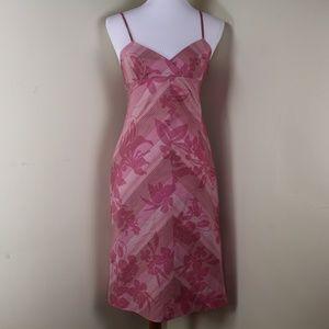 NWOT Halogen Pink Floral Print Midi Dress