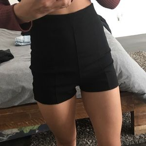 High Waisted Black Dress Shorts