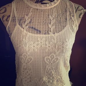 NWT Jessica Simpson Lace Overlay Top Girls M & L