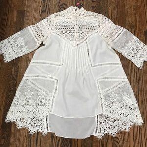 Plenty by Tracy Reese bohemian crochet tunic