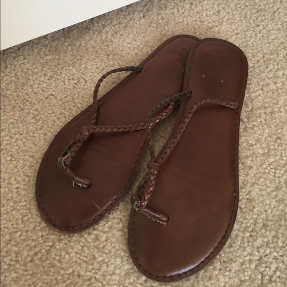 0ab295290dc Abercrombie   Fitch Shoes - Abercrombie Leather braided flip flops
