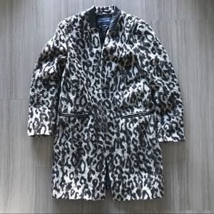 French Connection leopard coat