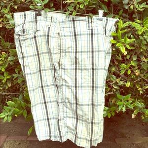 Mossimo Supply Co men's plaid Cargo Shorts 36
