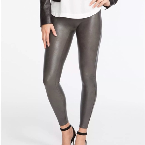 277593bce134e SPANX Pants | Faux Leather Leggings Gunmetal Style 2437 L | Poshmark