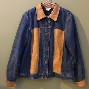 Coldwater Creek Denim and Leather Jacket