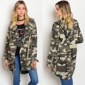 Jackets & Blazers - Sale🎉🎉 Camo Utility Jacket W/ Hood