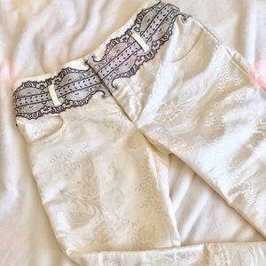 Balenciaga Nicolas Ghesquirere Silk Brocade Trouse
