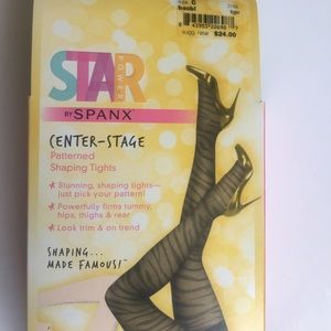 Star Power by Spanx Patterned  Shaping Tights Sz C