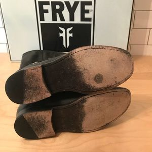 Frye Shoes - Frye Phillip Harness Riding Boot Distressed Black