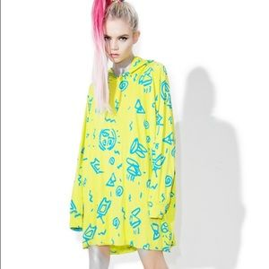 NEW Hooded oversized shirt dress MAMADOUX