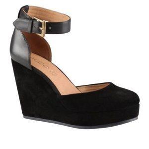 ALDO Trelli Women's Wedge Shoe Black Suede