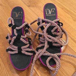 DVF Voleta rope sandals - worn once/photo shoot