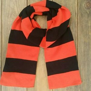 Accessories - Perfect Halloween Orange and Black Striped Scarf