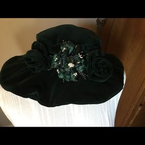 Accessories - Custom dark green velvet hat