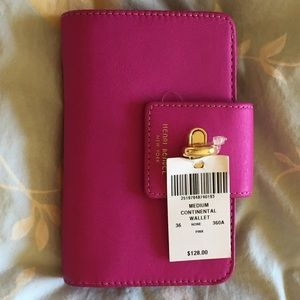 Henri Bendel Medium Continental Wallet, PINK, NWT