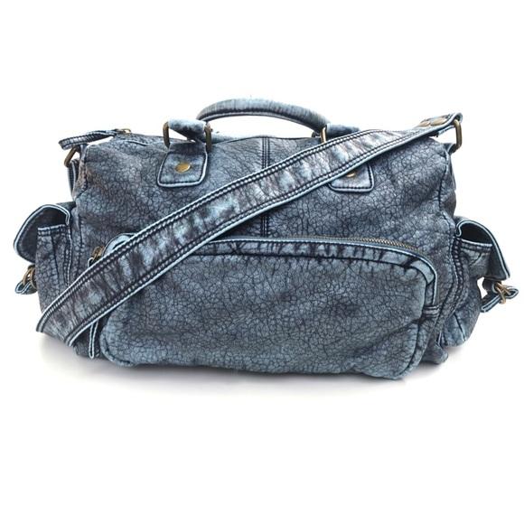 33dd3169da7 Aldo Handbags - Aldo Denim Blue Vegan Leather Handbag