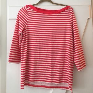 Striped boat neck too