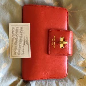 Henri Bendel Medium Continental Wallet, RED, NWT