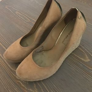 Antonio Melani Closed Toe Tan Wedges