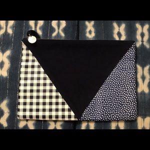 Clare v Vivier nwot patchwork suede clutch