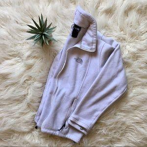 White North Face Fleece Zip Up Fleece Jacket