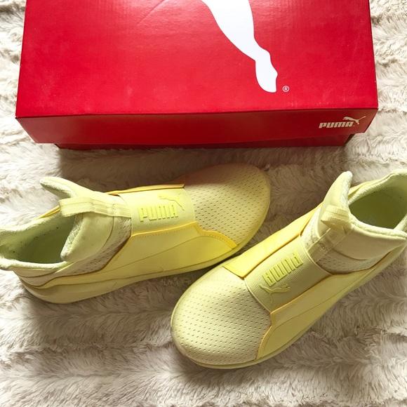 456e01757fae PUMA Fierce Bright Mesh sneakers Elfin yellow. M 59d2962999086abc19005e61