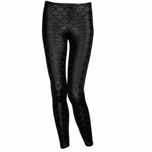 Black Mermaid Siren Leggings
