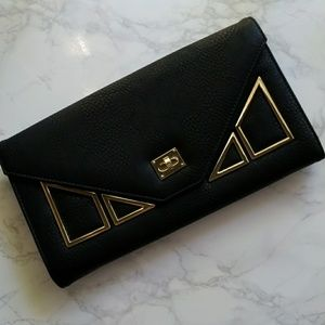 New faux leather clutch